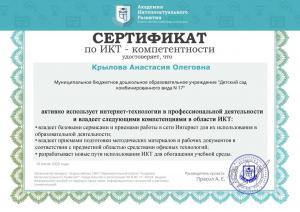 Сертификат по ИКТ 2