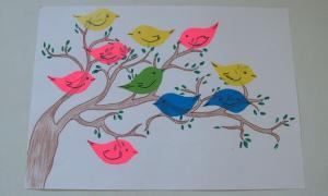 11 Коллективная работа Птички прилетели к нам